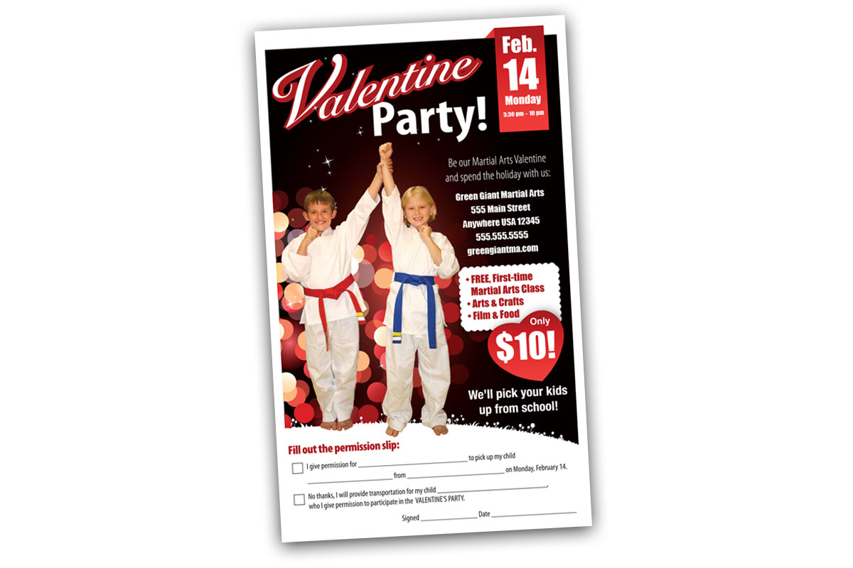 Valentines Day party ad